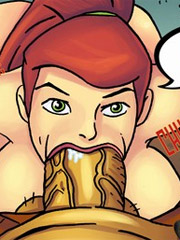 Huge melons manga girls with shaved pussy showing their sucking and fucking skills.